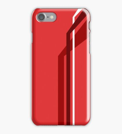 Flying Vanes - Red iPhone Case/Skin