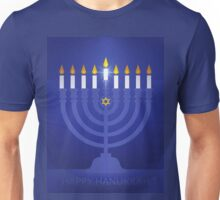 blue happy hannukah Unisex T-Shirt