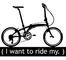 I want to ride my. Photographic Print