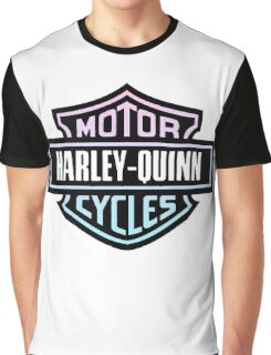 Harley-Quinn Motorcycles Graphic T-Shirt