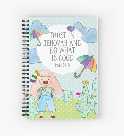 2017 YEAR TEXT (Girl and Nature) Spiral Notebook