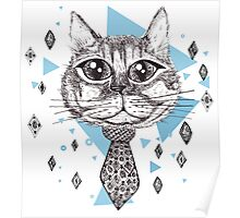 Funny ink cat Poster