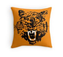Negative Tiger Throw Pillow