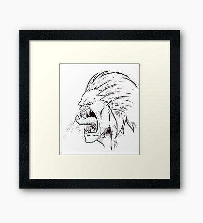 Street Fighter II Portraits - Blanka Framed Print