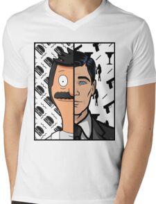 Trading Faces Mens V-Neck T-Shirt