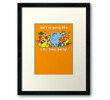 Dr. Seuss Party - White Framed Print