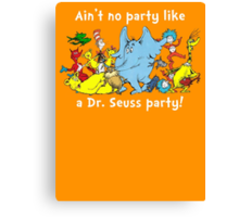 Dr. Seuss Party - White Canvas Print
