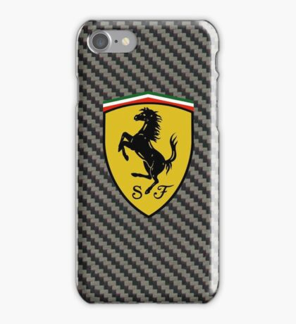 Carbon Fiber Ferrari Design Case iPhone Case/Skin