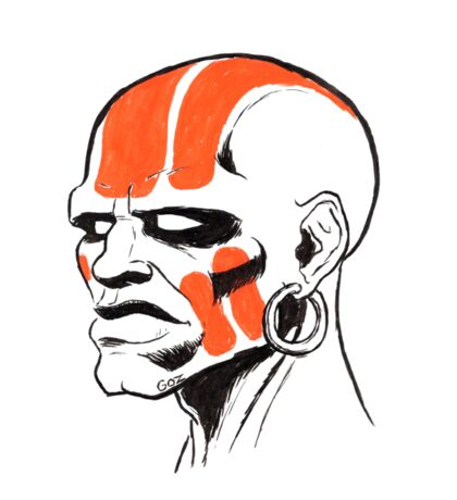 Street Fighter II Portraits - Dhalsim Sticker