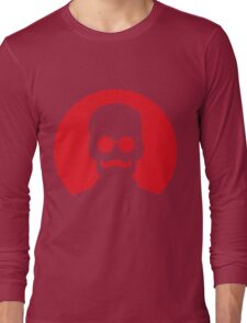Hipster Personality - Mustache and Glasses (Red) Long Sleeve T-Shirt