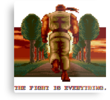 RYU Street Fighter II: The Fight is everything. Metal Print