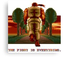 RYU Street Fighter II: The Fight is everything. Canvas Print
