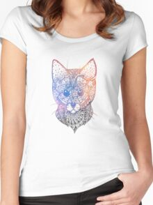 Abstract Cat Women's Fitted Scoop T-Shirt