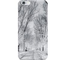 Snow's path down Comm Ave iPhone Case/Skin