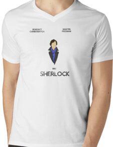 Sherlock Minimalist 1 Mens V-Neck T-Shirt