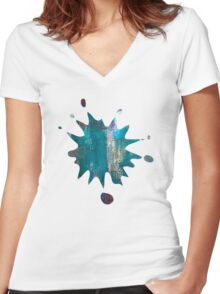 Abstract painting Women's Fitted V-Neck T-Shirt