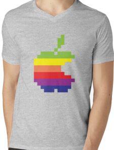 Pixel Fruit Mens V-Neck T-Shirt