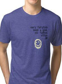 BORED VILLIAN 1 Tri-blend T-Shirt
