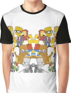 Bart Simpson Collage Graphic T-Shirt