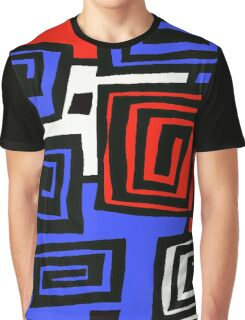 Blue and Red  Graphic T-Shirt