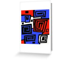 Blue and Red  Greeting Card