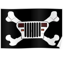 Jeep and Crossbones Poster