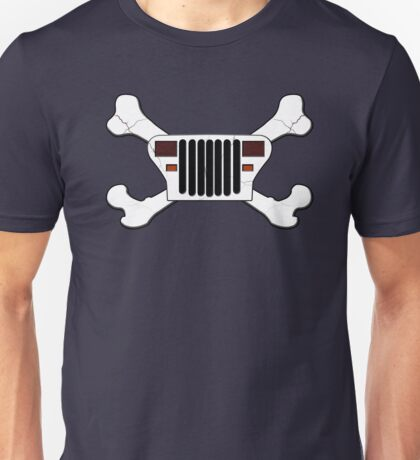 Jeep and Crossbones Unisex T-Shirt