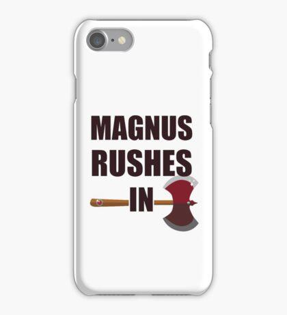 [TAZ] MAGNUS RUSHES IN! iPhone Case/Skin