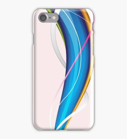 Tornado; Abstract Digital Vector Art iPhone Case/Skin