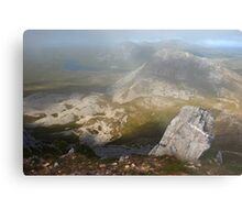 In The Clouds On Errigal Metal Print