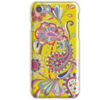 Paisley; Abstract Digital Vector Art iPhone Case/Skin