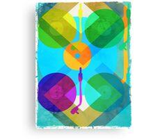 Abstract Vinyl Record Turntable Canvas Print