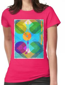 Abstract Vinyl Record Turntable Womens Fitted T-Shirt
