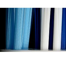 Blue Yarn Photographic Print