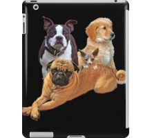 Dog posse with a hairless cat iPad Case/Skin