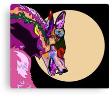 Pink Werewolf Canvas Print
