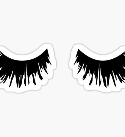 Eyelash Print Sticker