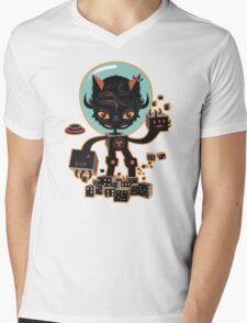 Dj Hammerhand cat - Party at OGM garden Mens V-Neck T-Shirt