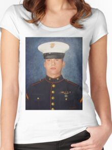 PFC Garrod Palmer, USMC Women's Fitted Scoop T-Shirt