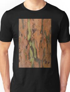 Tan Bark with Green Unisex T-Shirt