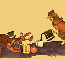 Sir Lobster and the Rooster by Artsworth