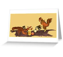 Sir Lobster and the Rooster Greeting Card