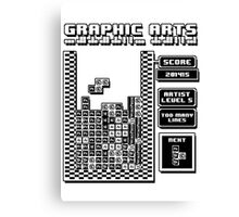 Graphic Arts Tetris Edition Canvas Print