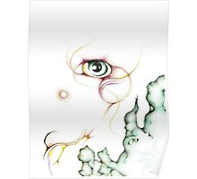 Colorful Nebula Eyeball Colored Pencil Poster