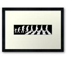The Beatles - Evolution #9 (White) Framed Print