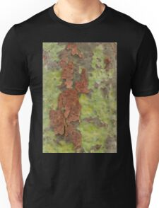 Brown Bark on Green Unisex T-Shirt
