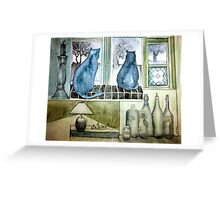 life is happening outside Greeting Card