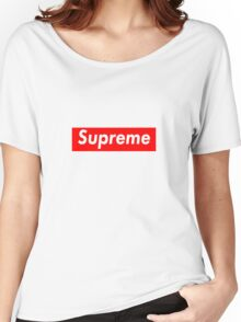 Supreme Logo Women's Relaxed Fit T-Shirt