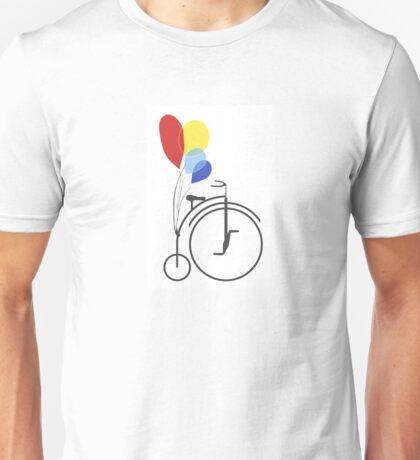 Penny Farthing with Balloons Unisex T-Shirt