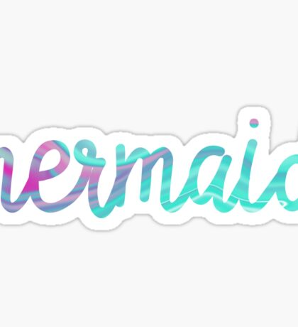 psychedelic mermaid  Sticker